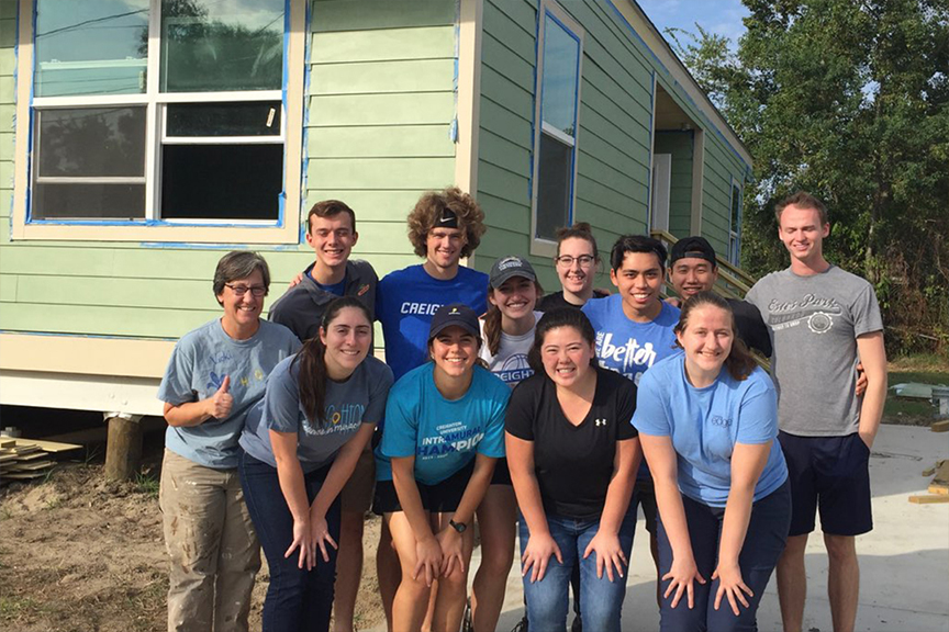 House of Charity Hosts Creighton University Students