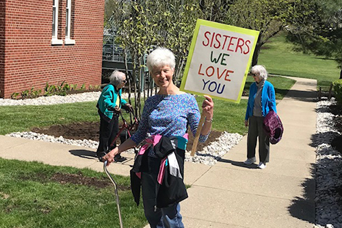 Sisters Enjoy Earth Day Walk