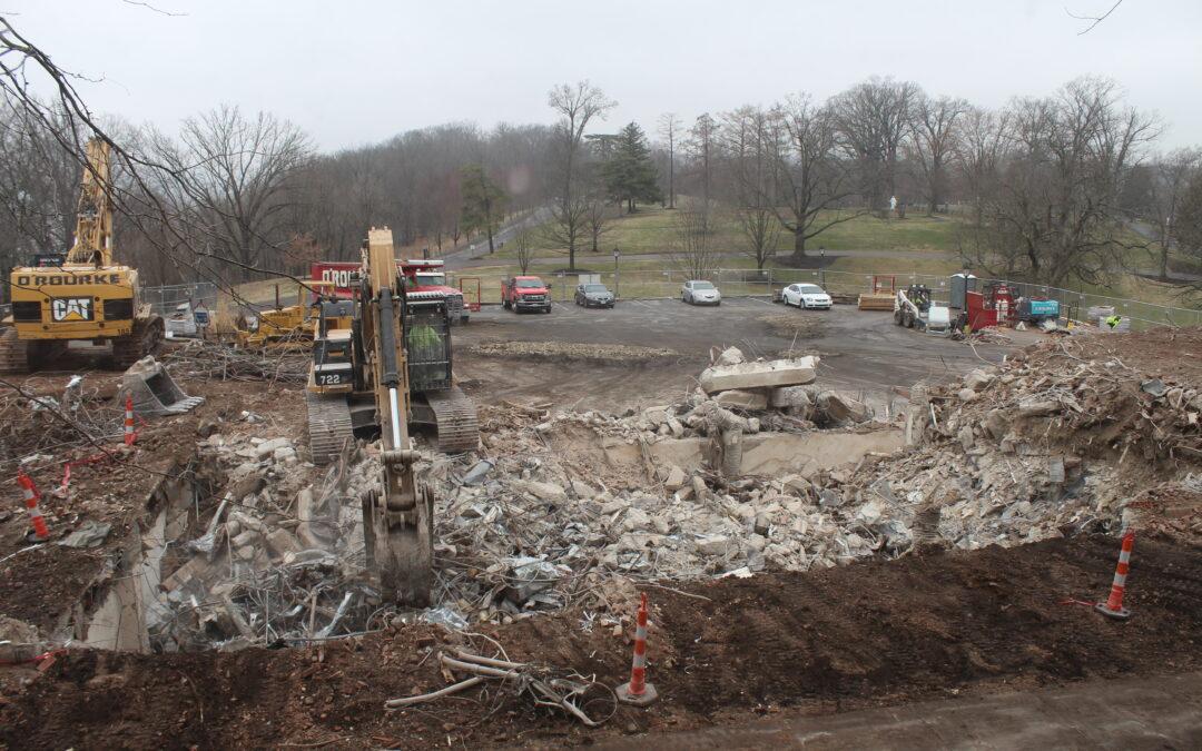 Seton Hall Demolition Continues