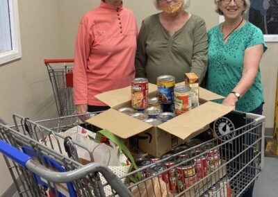 Sister of Charity of Cincinnati soup and shampoo collection for Community Matters, Cincinnati, Ohio.